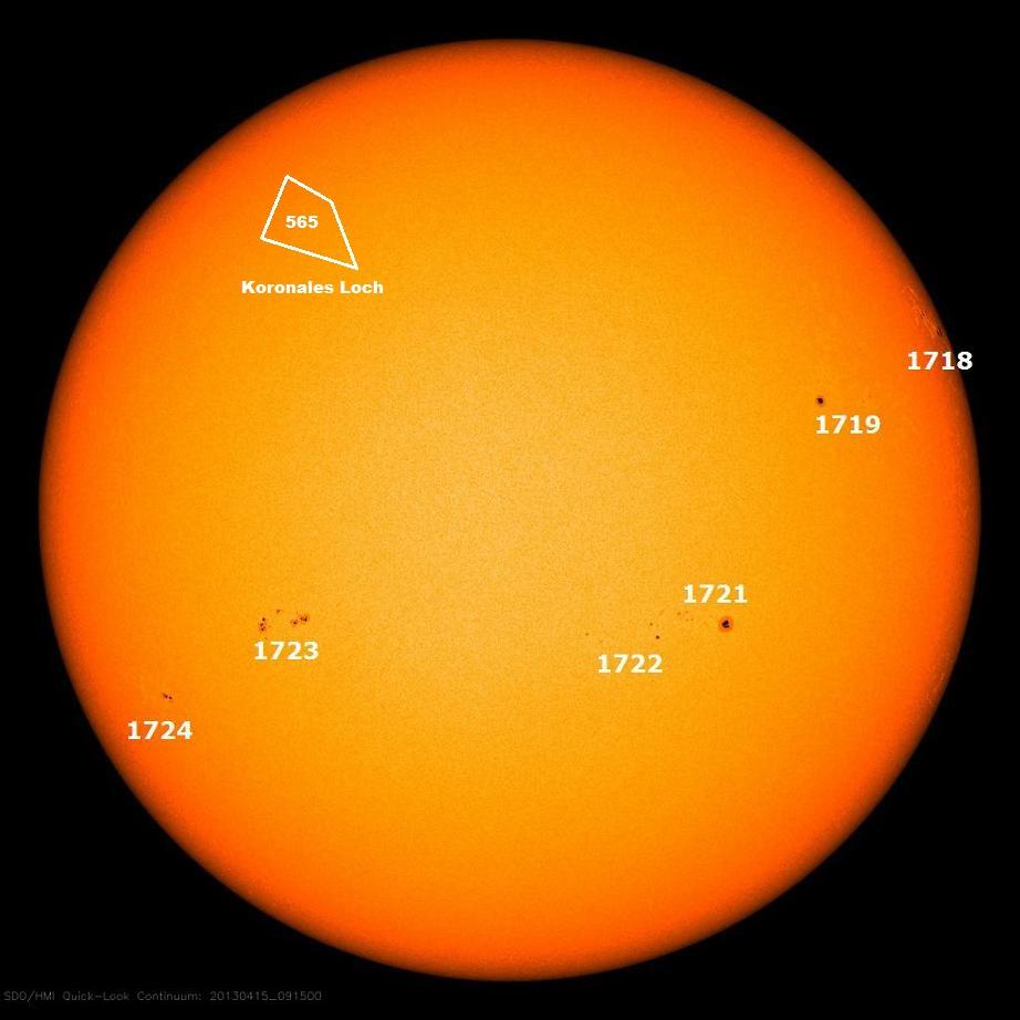Sonnenflecken April 15.