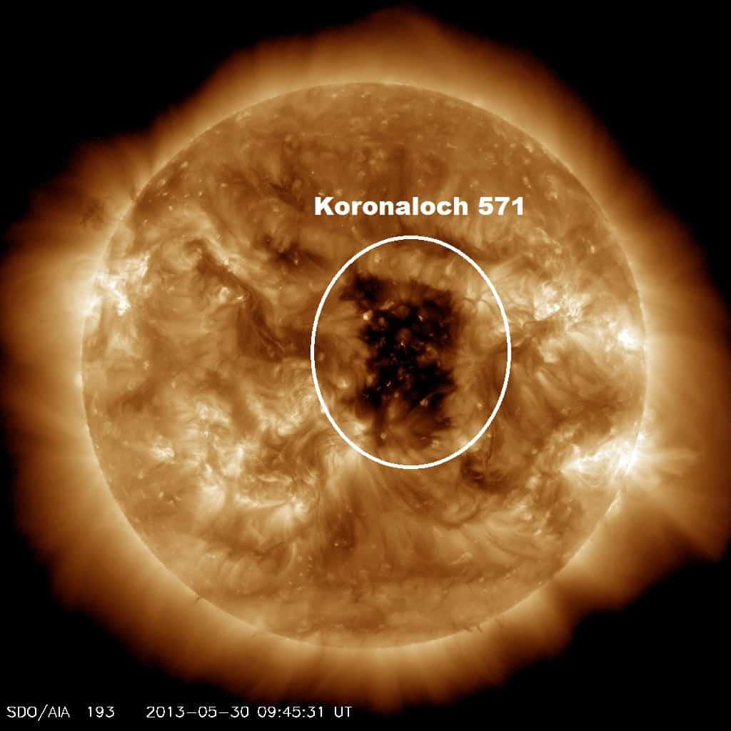 Koronales Loch erhöht die geomagnetische Aktivität 1