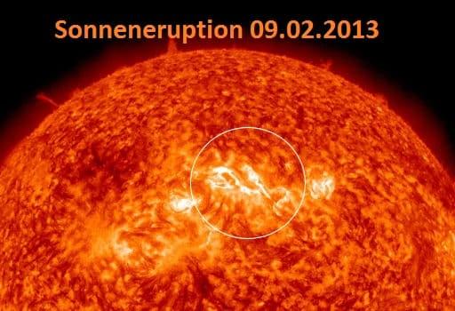 Sonneneruption erreicht am 12.Feb die Erde 1