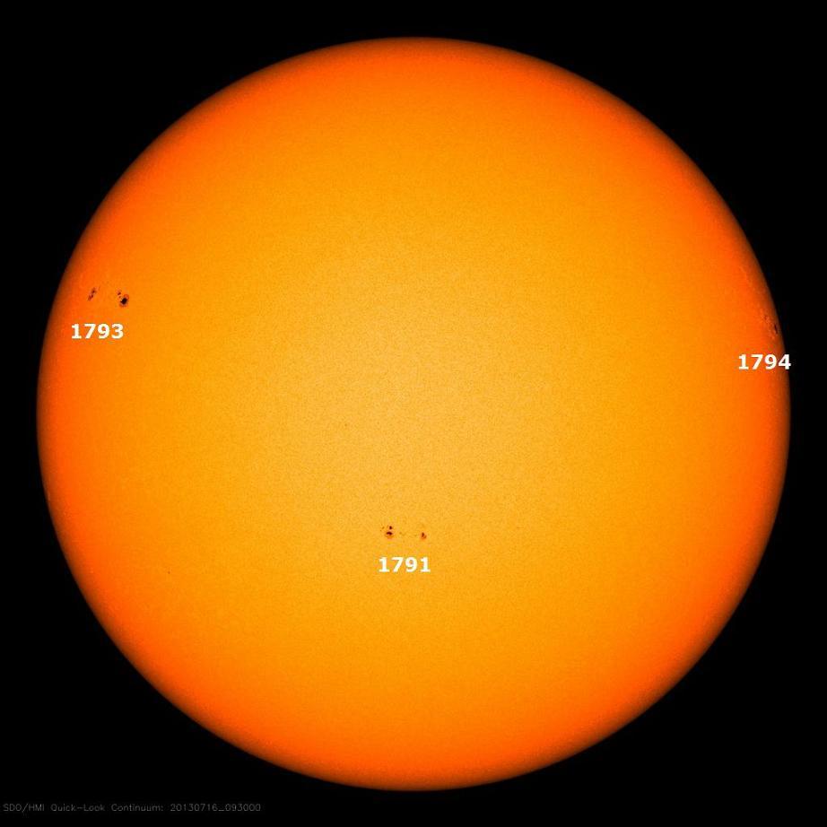Sonnenflecken am 16.07.2013