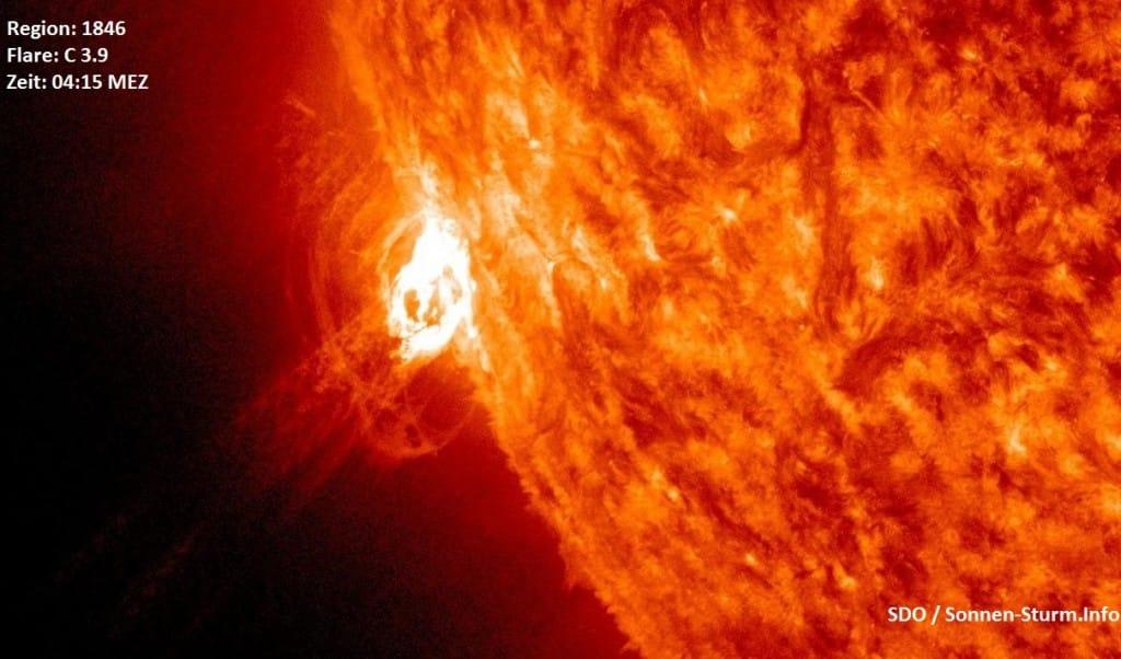 Sonneneruption C 3.9