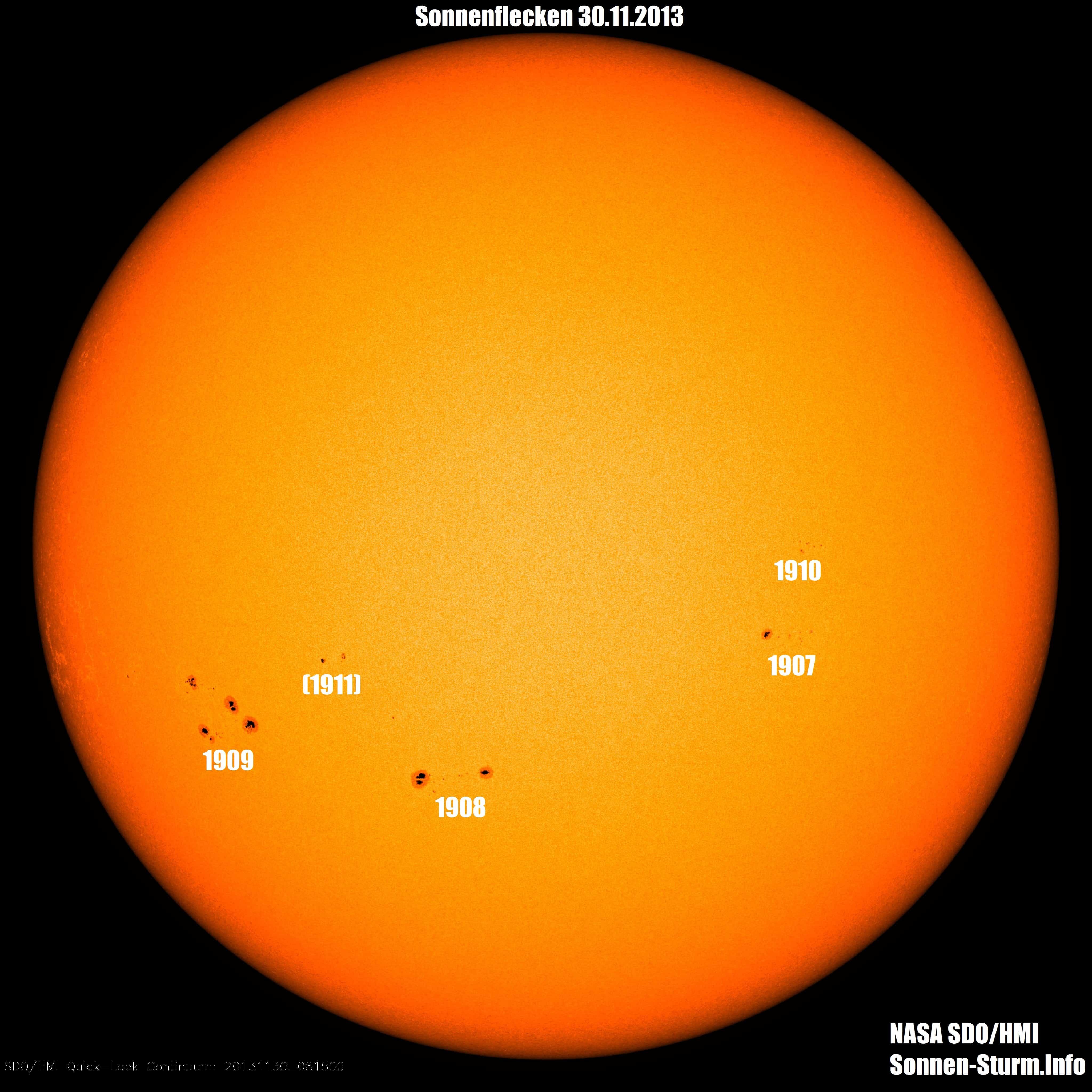 Sonnenflecken 30.November 2013