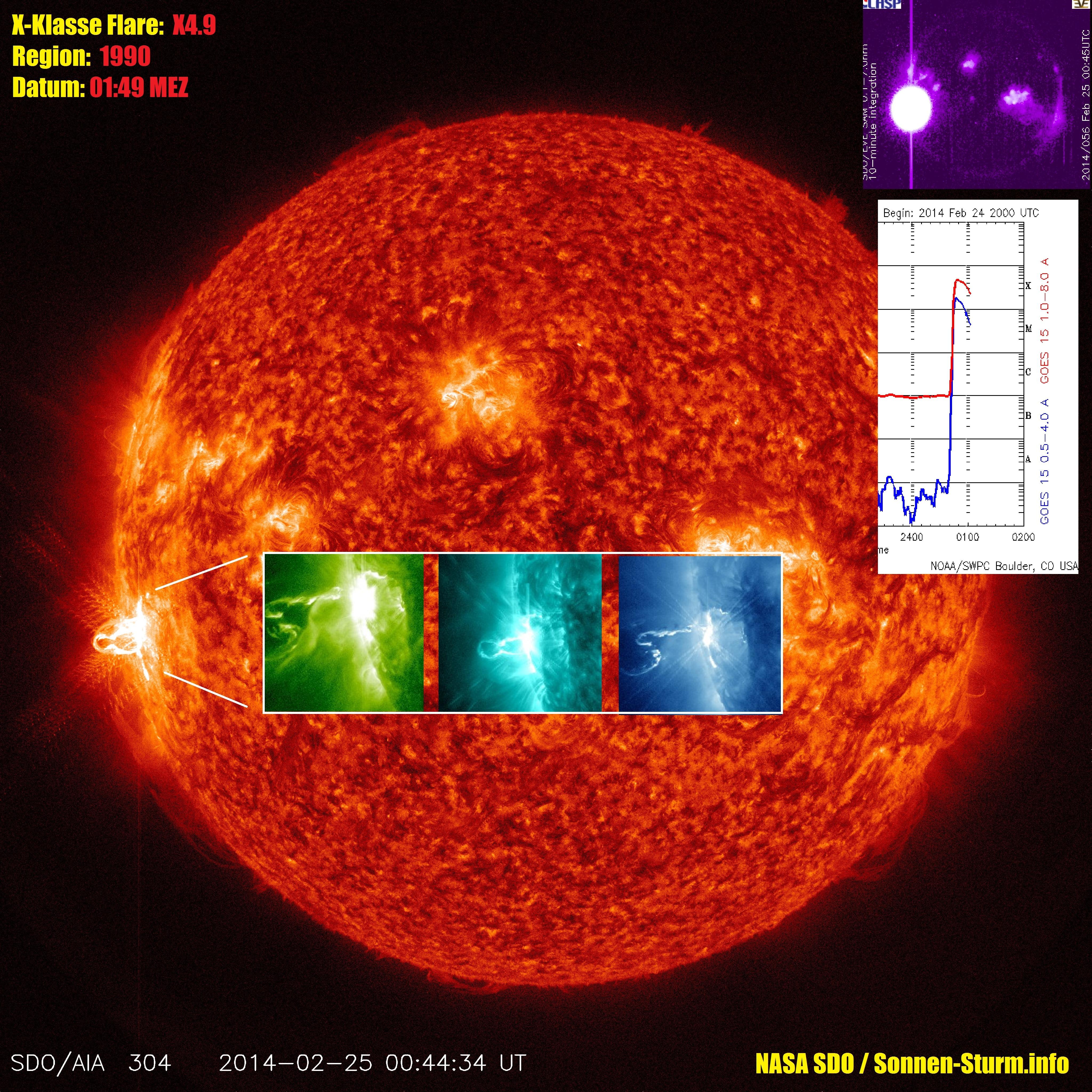 Starke X-Klasse Sonneneruption (X4.9) *Update* 1