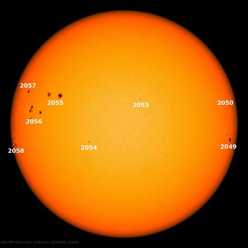 Sonnenflecken aufgenommen am 09. Mai 2014