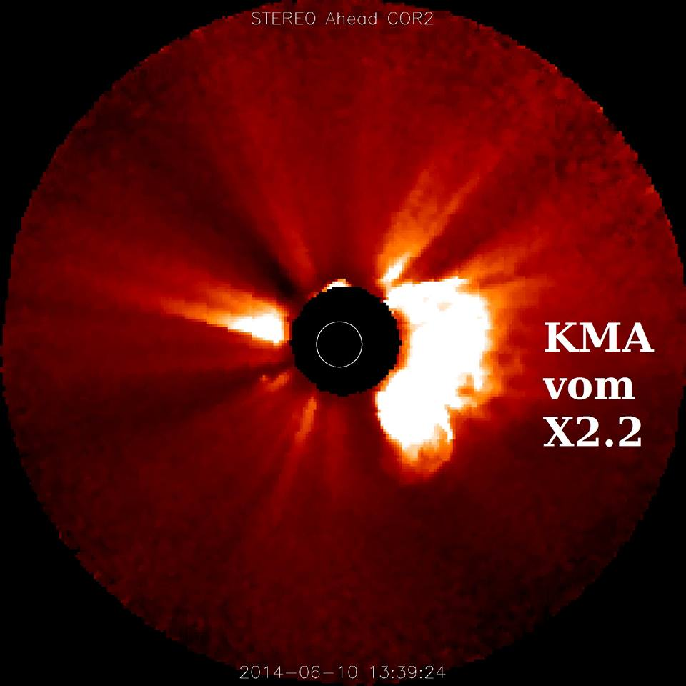 Massenauswurf kurz nach der X-Klasse Sonneneruption