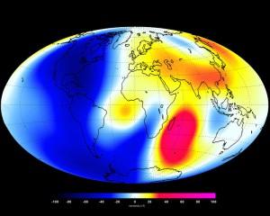 Veränderungen im Erdmagnetfeld erstmals sichtbar gemacht