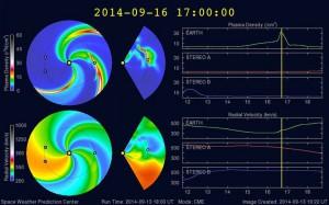 Bild: ENLIL Vorhersage-Modell der NOAA