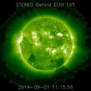 Vermutlicher X-Klasse Flare. Aufnahme: NASA SDO