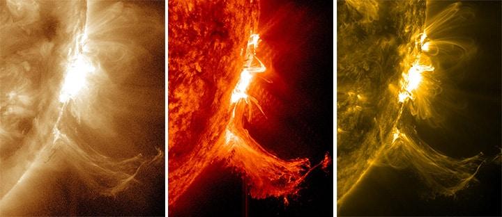 Doppelte M-Klasse Sonneneruption 1