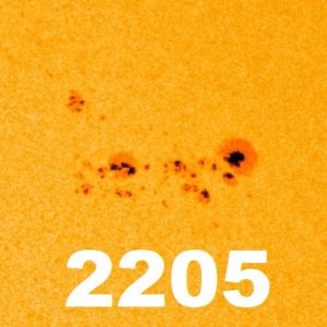 Sonnenfleck 2205