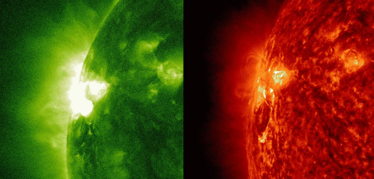 M-Klasse Sonneneruption - M1.1 1
