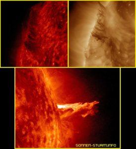Sonneneruption & Filament