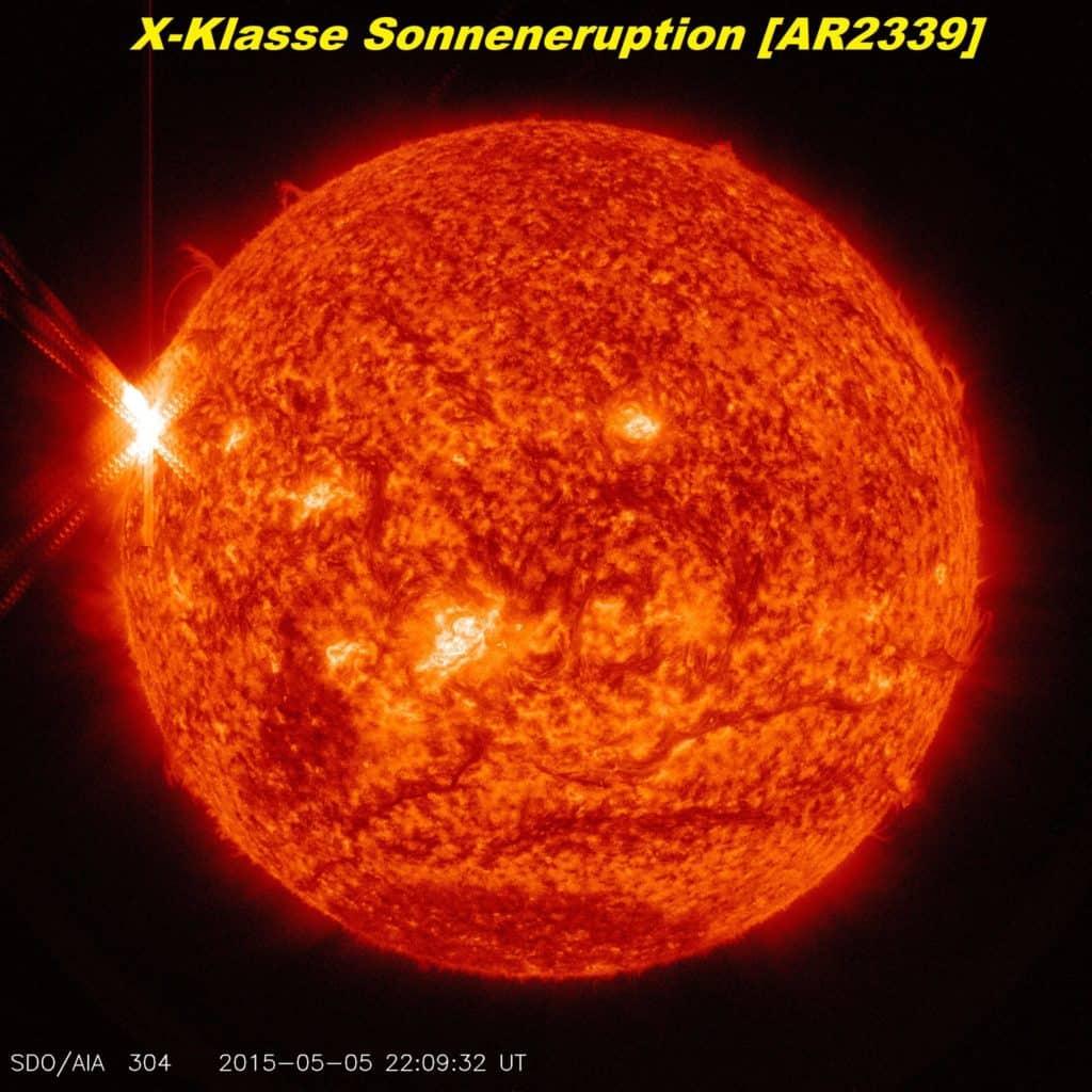 X Klasse Sonneneruption 06.Maii 2015
