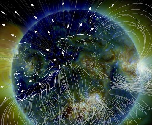 Koronales Loch in der Sonnenatmosphäre