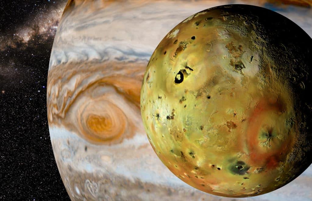 Jupiter mit Mond Io