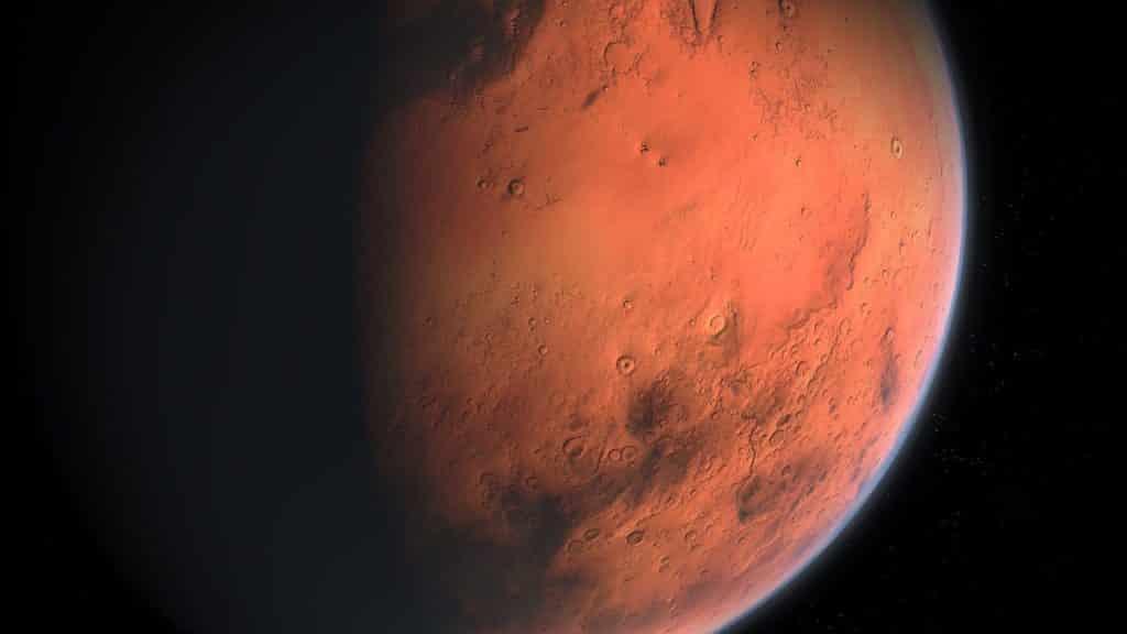 Flug zum Mars