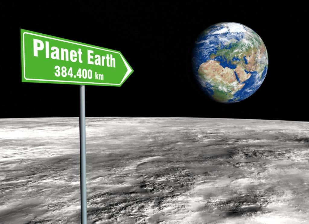 Entfernung zwischen Erde und Mond