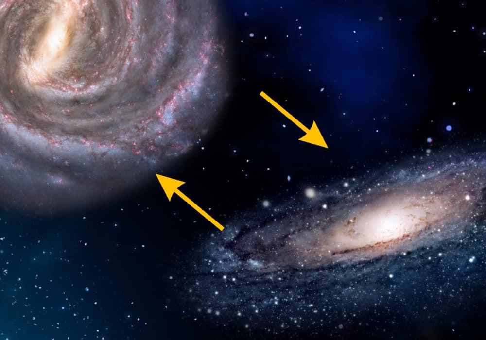 Galaxien auf Kollisionskurs: Der Zusammenstoß von Andromeda und Milchstraße 1