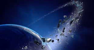 Darstellung: Weltraumschrott kreist um die Erde
