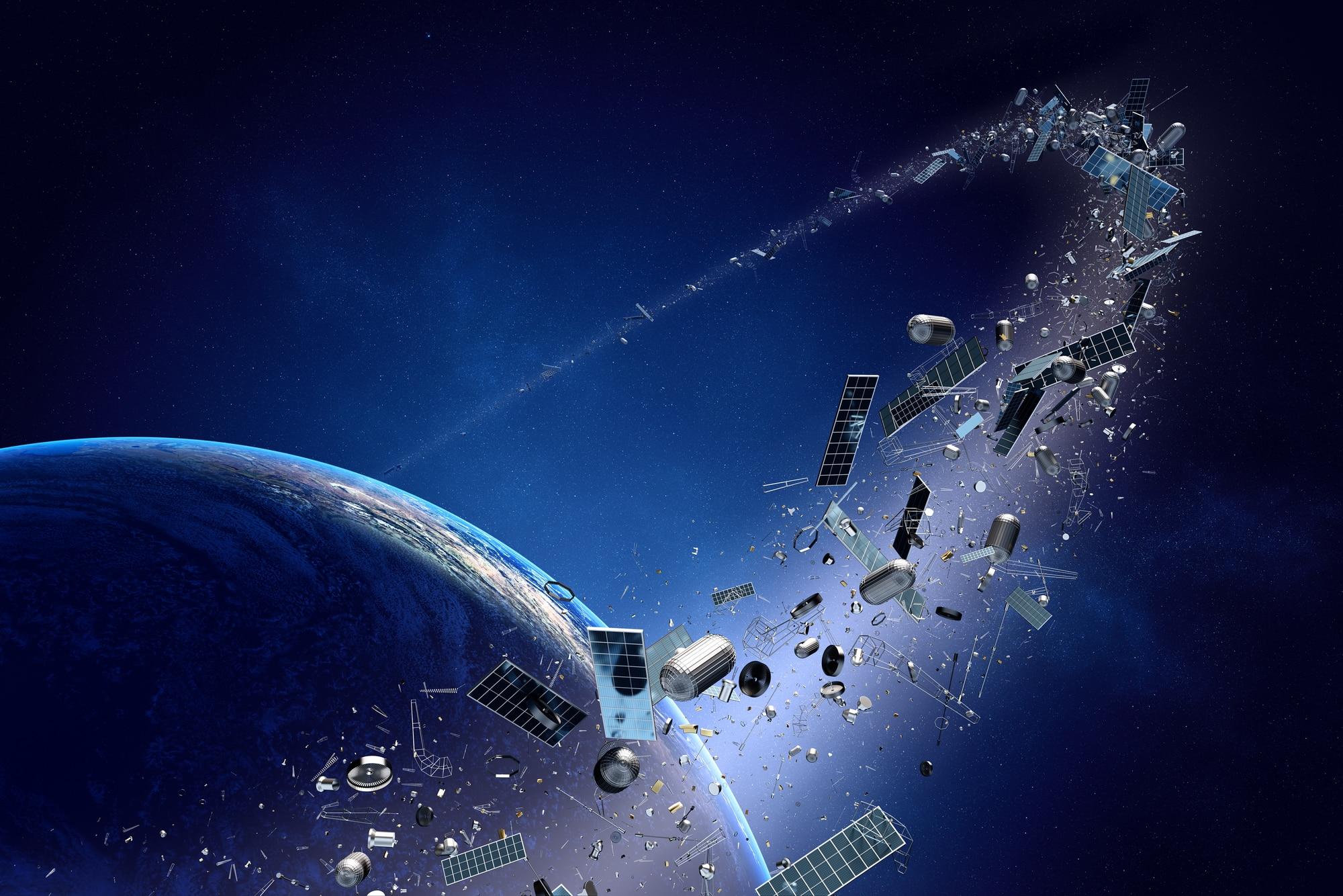 Die Erde, in der wir leben und der Raum, der die Welt ist - Seite 59 Darstellung-von-Weltraumschrott
