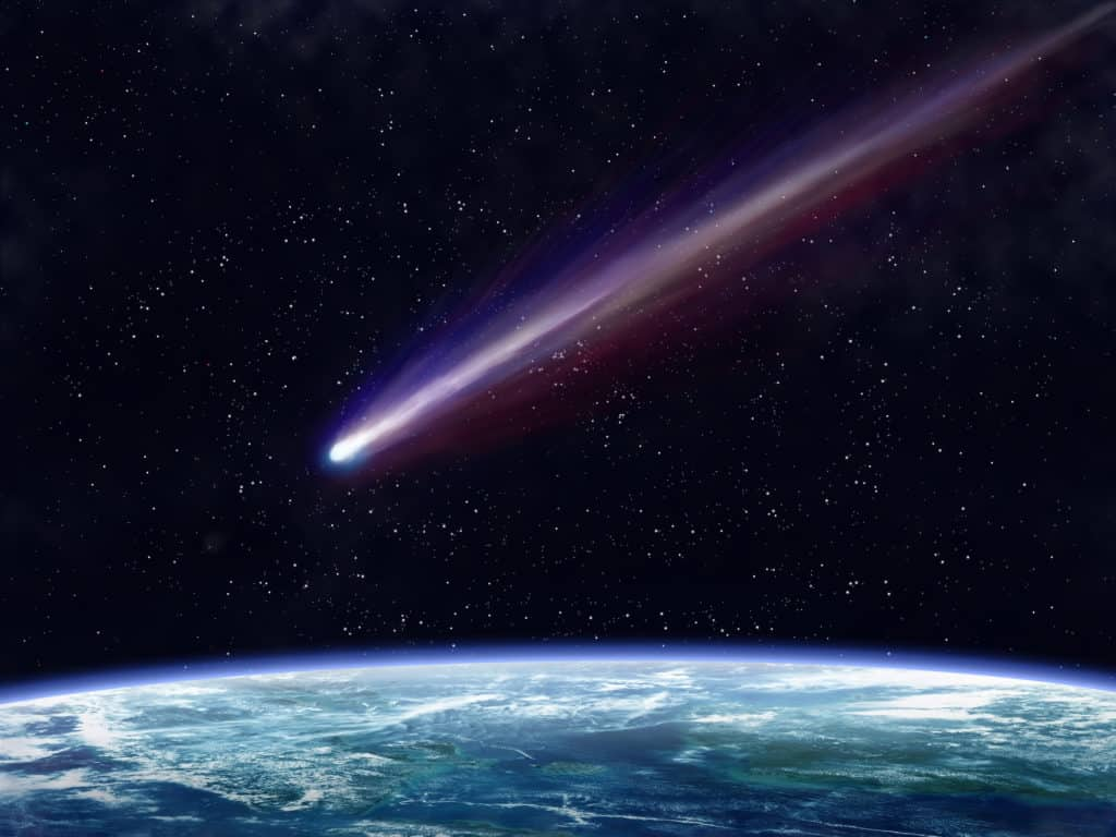 Sternschnuppe verglüht in der Atmosphäre