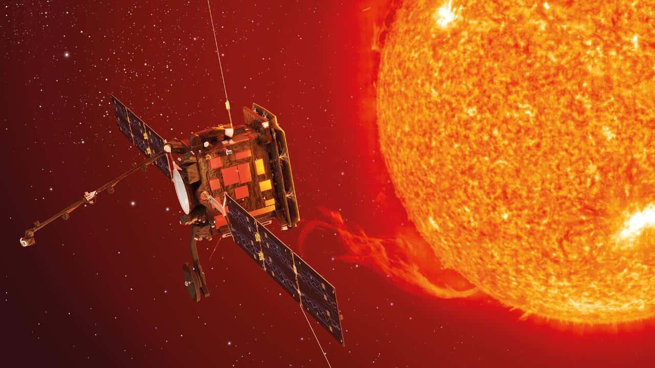 """Die ESA-Sonde """"Solar Orbiter"""" soll Sonnenstürme erforschen Foto: ESA"""