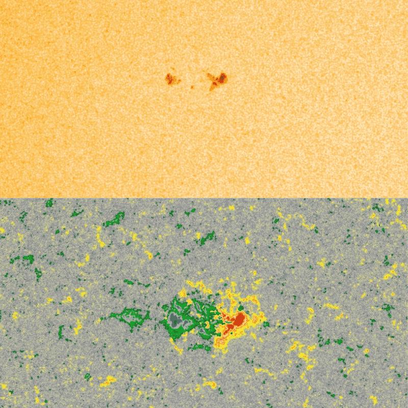 Sonnenfleck 2757 aufgenommen am 26.01.2020