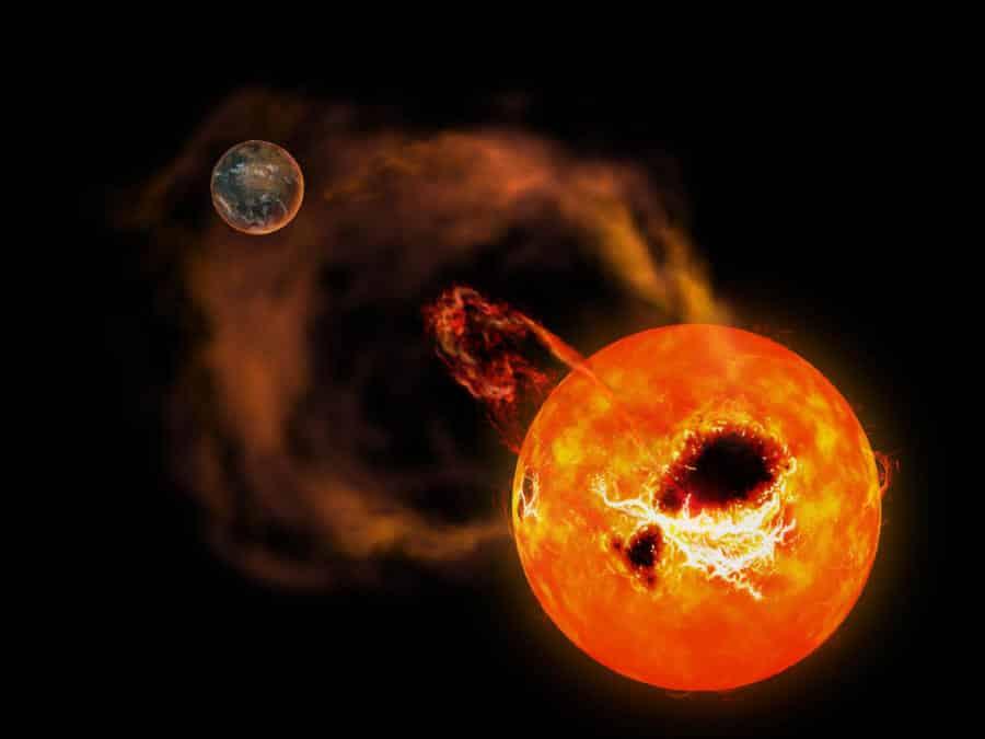 Superflare auf Zwergplanet