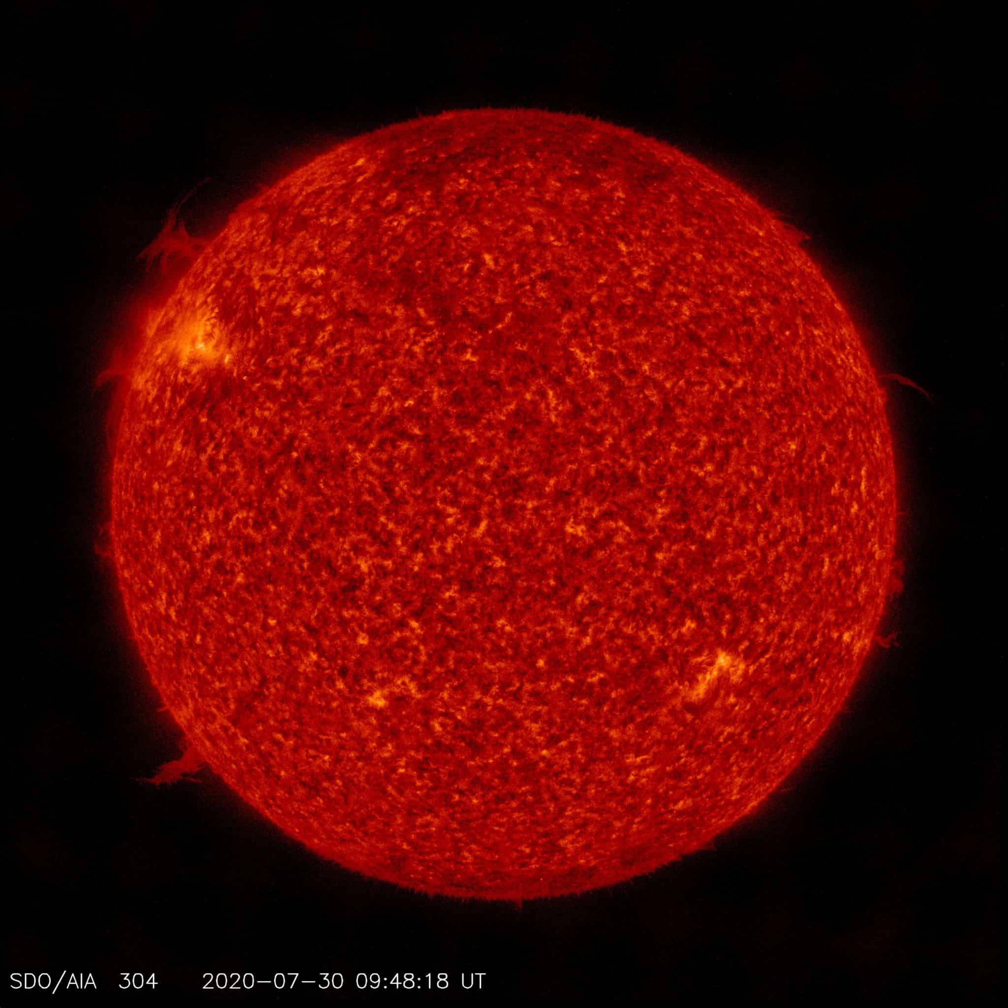 Protuberanzen auf der Sonne