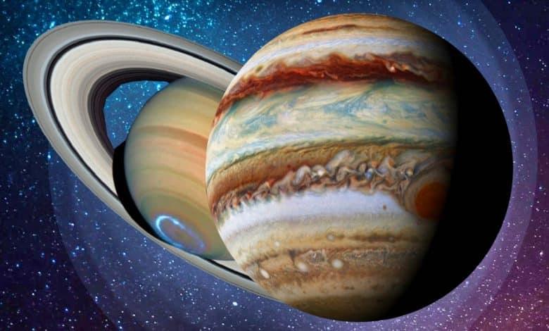 Die große Konjunktion von Jupiter und Saturn 2