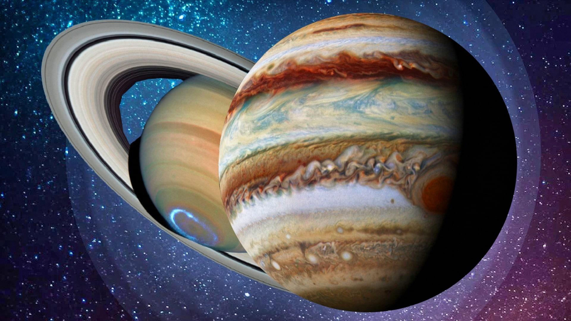 Die große Konjunktion von Jupiter und Saturn 1